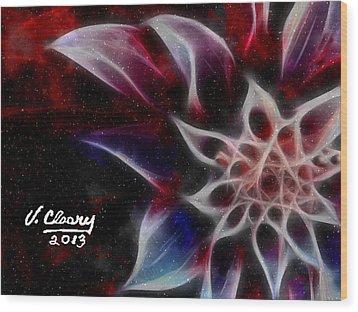 Purple Flower Wood Print by Virginia Cleary