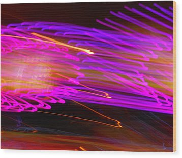 Purple Storm Wood Print by James Welch