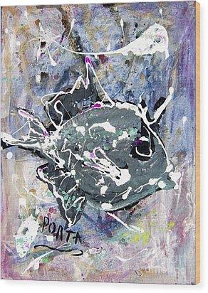 Purple Triggerfish Wood Print by Dustin Porta