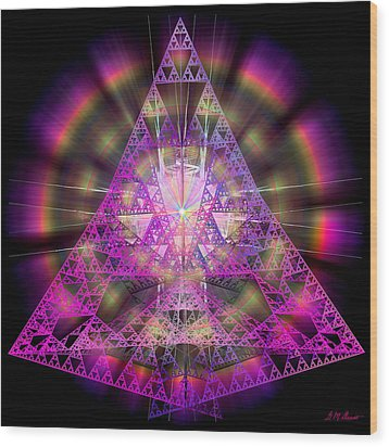 Pyramidian Wood Print by Michael Durst