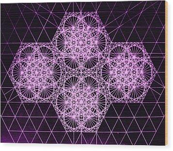 Quantum Snowfall Wood Print by Jason Padgett