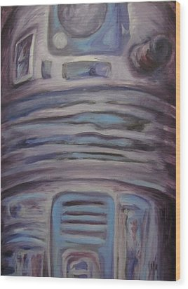 R2 Abstract Wood Print by Howard Perry