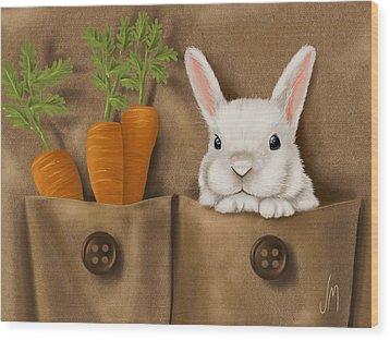 Rabbit Hole Wood Print by Veronica Minozzi