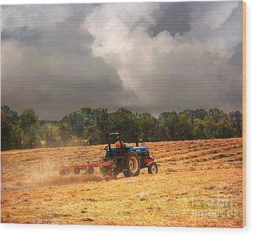 Race Against The Storm Wood Print by Jai Johnson