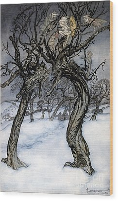 Rackham: Whisper Trees Wood Print by Granger