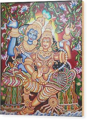 Radheshyam Wood Print by Jayashree
