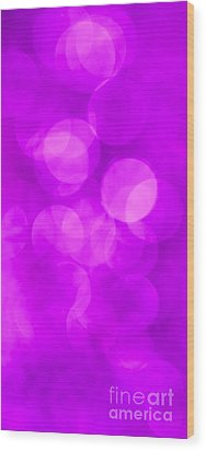 Radiant Orchid Abstract Wood Print by Jan Bickerton