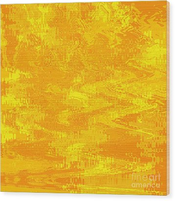 Radiating Sunshine Colors - Abstract Art Wood Print by Carol Groenen