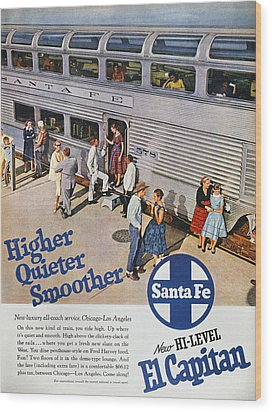 Railroad Ad, 1957 Wood Print by Granger