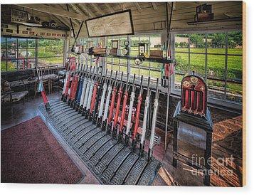 Railway Signal Box Wood Print by Adrian Evans