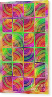 Rainbow Bliss 3 - Over The Rainbow V Wood Print by Andee Design