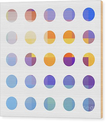 Rainbow Dots  Wood Print by Pixel Chimp