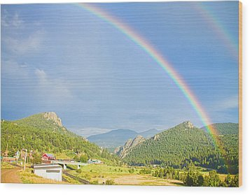 Rainbow Over Rollinsville Wood Print by James BO  Insogna
