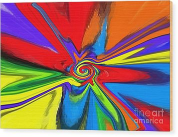Rainbow Time Warp Wood Print by Chris Butler
