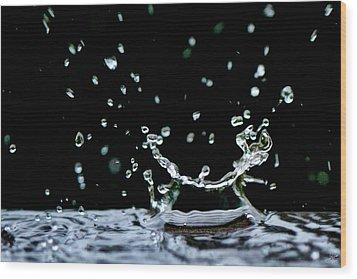 Raindrop Wood Print by Lisa Knechtel