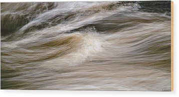 Rapids Wood Print by Marty Saccone