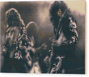 Raw Energy Of Led Zeppelin Wood Print by Daniel Hagerman