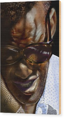 Ray Charles-beyond Sight 2 Wood Print by Reggie Duffie
