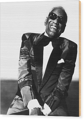 Ray Charles Wood Print by Retro Images Archive