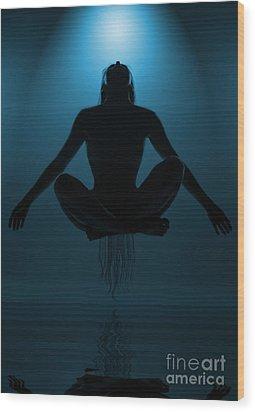 Reaching Nirvana.. Wood Print by Nina Stavlund