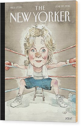 Ready For A Fight Wood Print by Barry Blitt