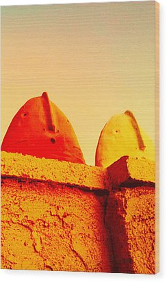 Red And Yellow Vigils  Wood Print by Mark M  Mellon