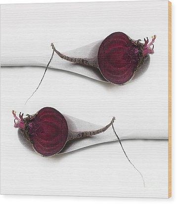 Red Beets Wood Print by Priska Wettstein