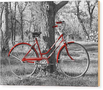 Red Bicycle Wood Print by James Granberry