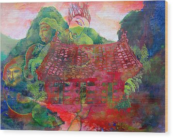 Red Festival Wood Print by James Huntley