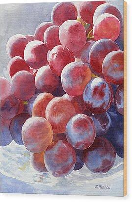 Red Grape Essence Wood Print by Sharon Freeman
