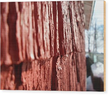 Red Gristmill Wood Print by Jenna Mengersen