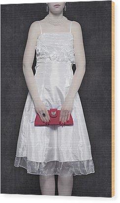 Red Handbag Wood Print by Joana Kruse