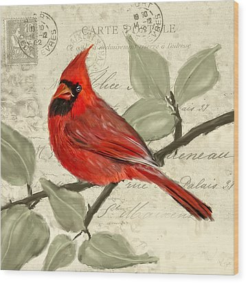 Red Melody Wood Print by Lourry Legarde