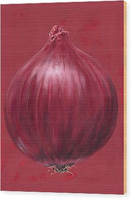 Red Onion Wood Print by Brian James