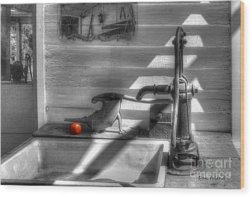 Red Tomato By Sink Wood Print by Dan Friend