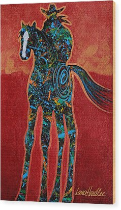 Red With Rope Wood Print by Lance Headlee