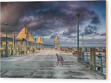 Redondo Pier Wood Print by Joseph Hollingsworth