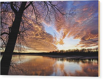 Reflected Glory Wood Print by Cricket Hackmann