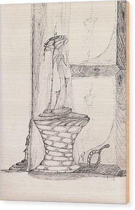 Reflections... Wood Print by Robert Meszaros