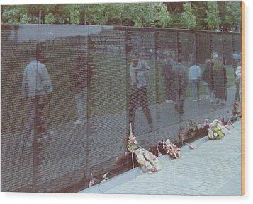 Reflections Vietnam Memorial Wood Print by Joann Renner