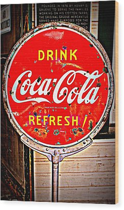 Refresh Wood Print by Beth Vincent