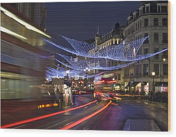Regent Street Lights Wood Print by Matthew Gibson