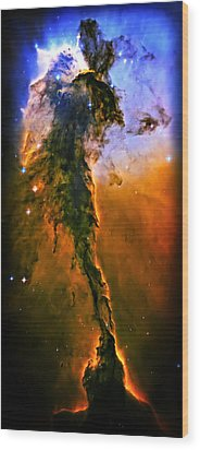 Release - Eagle Nebula 3 Wood Print by The  Vault - Jennifer Rondinelli Reilly