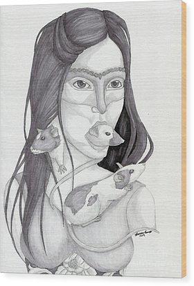 Release The Inner Spirit Wood Print by Kirsten Thomas