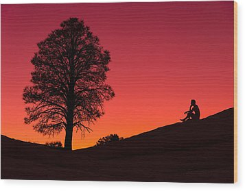 Reminiscing Wood Print by Chad Dutson