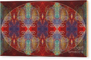 Repeating Realities Abstract Pattern Artwork By Omaste Witkowski Wood Print by Omaste Witkowski