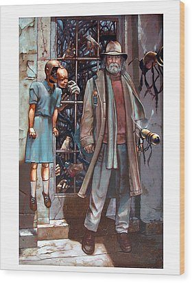 Resistance At The Threshold Wood Print by William Stoneham
