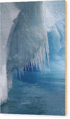 Rhapsody In Blue Wood Print by Ginny Barklow