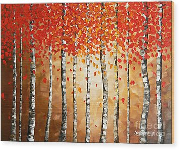Rich Trees Wood Print by Denisa Laura Doltu