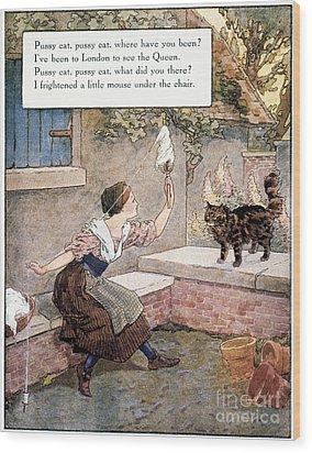 Richardson: Pussy Cat Wood Print by Granger